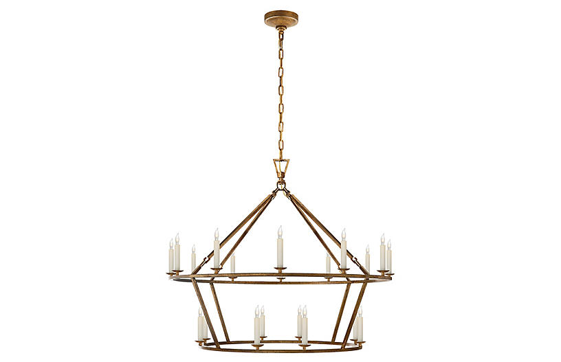 Darlana Large Two-Tiered Ring Chandelier