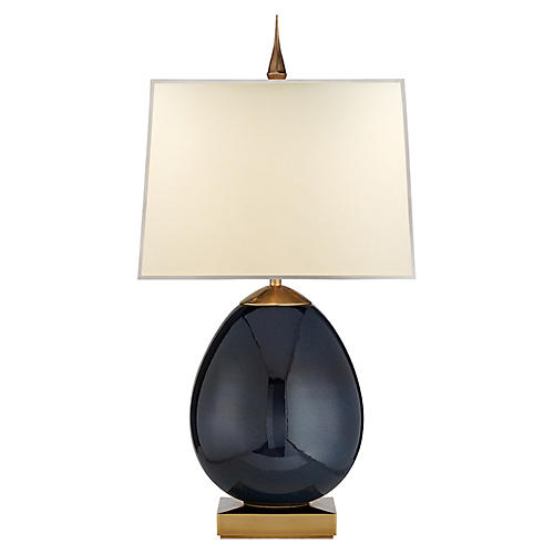 Ciro Table Lamp, Mixed Blue/Brass
