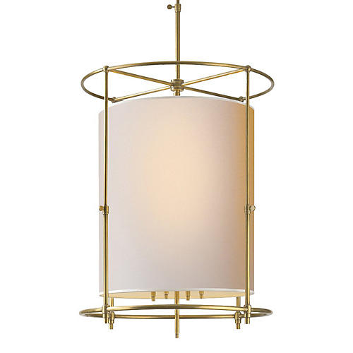 Bryant Large Pendant, Brass/Natural