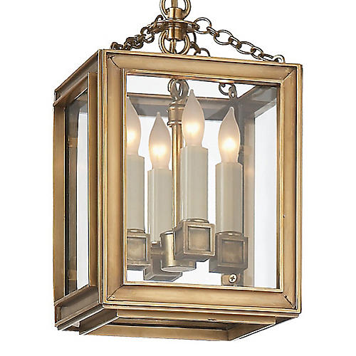 Lund Lantern, Brass/Clear