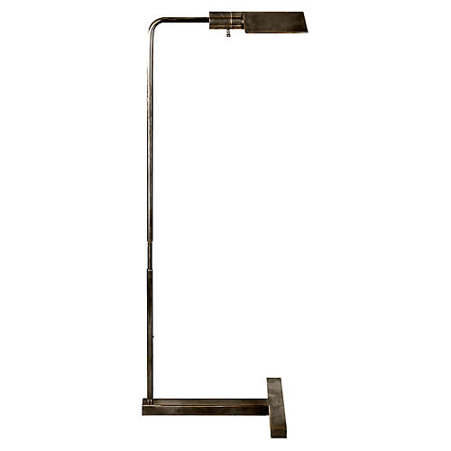 William Pharmacy Floor Lamp, Bronze