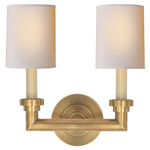 Wilton 2-Light Sconce, Brass