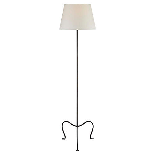 Albert Petite Floor Lamp, Aged Iron