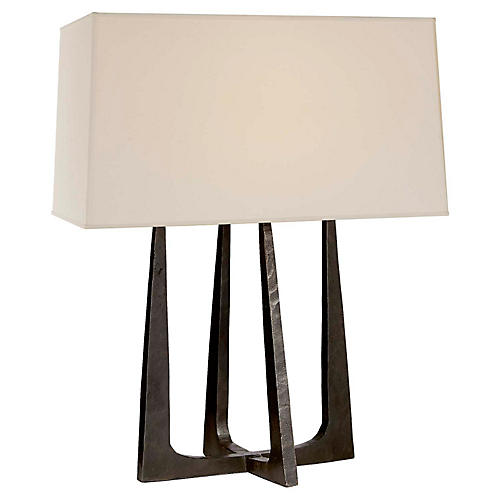 Scala Hand-Forged Table Lamp, Aged Iron