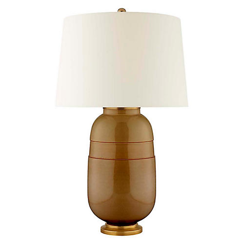 Newcomb Table Lamp, Dark Honey