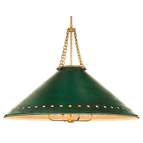 Hadley Large Pendant, Green