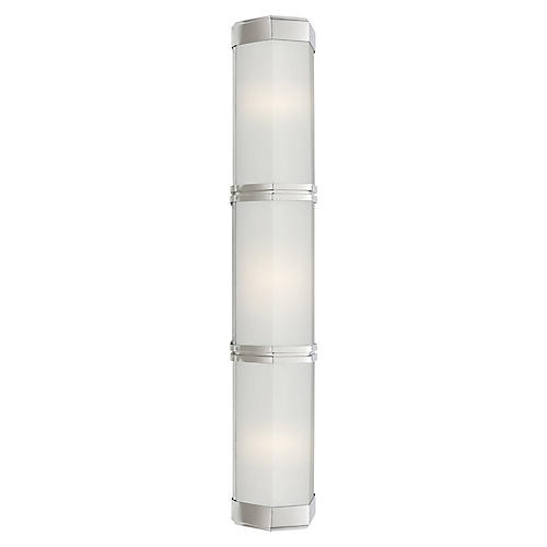 Berling Triple Wall Sconce, Polished Nickel