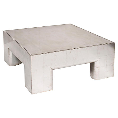 Crandon Coffee Table, Silver Leaf
