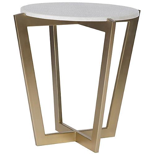 Hunter Side Table, Gold/Ivory