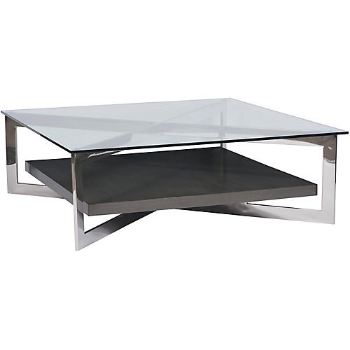 Jordan Coffee Table, Silver