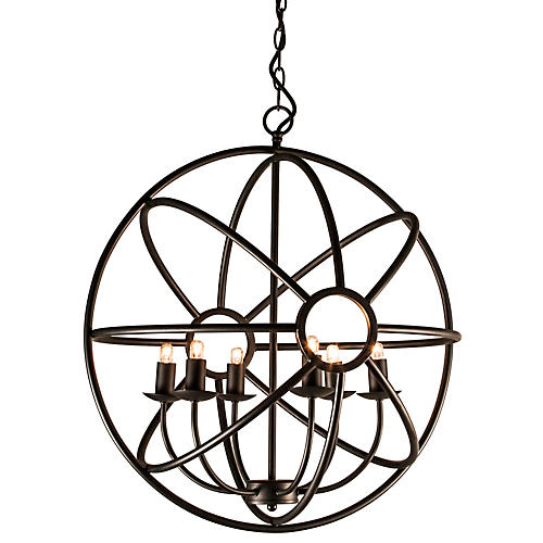 Reno 6-Light Chandelier, Black