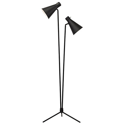 Spotlight Floor Lamp, Black