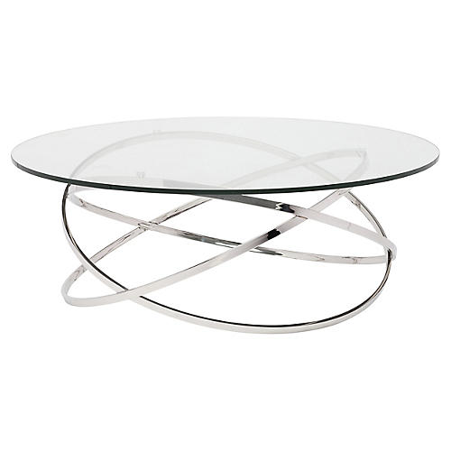Elise Coffee Table, Silver