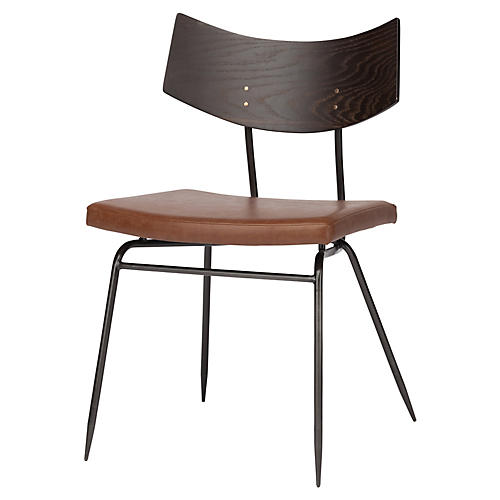 Luna Side Chair, Caramel Leather