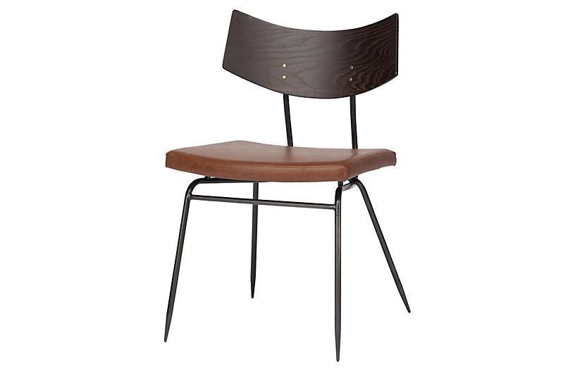 Luna Side Chair, Caramel Leather