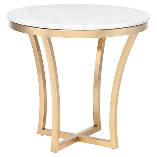 Aurora Side Table, White