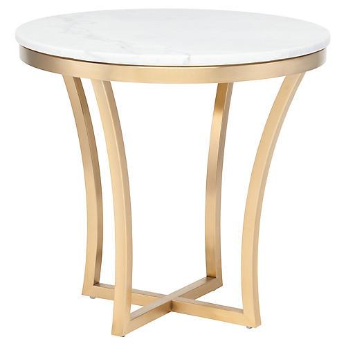 Aurora Side Table, White