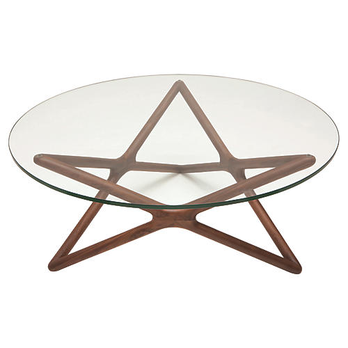 Star Coffee Table, Ash/Clear