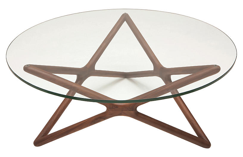 Star Coffee Table, Ash/Clear