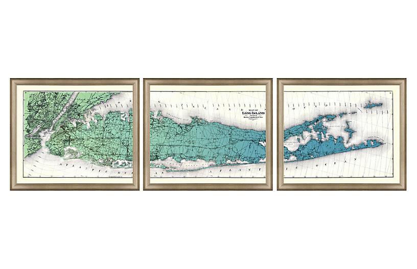 Long Island Gradient Triptych