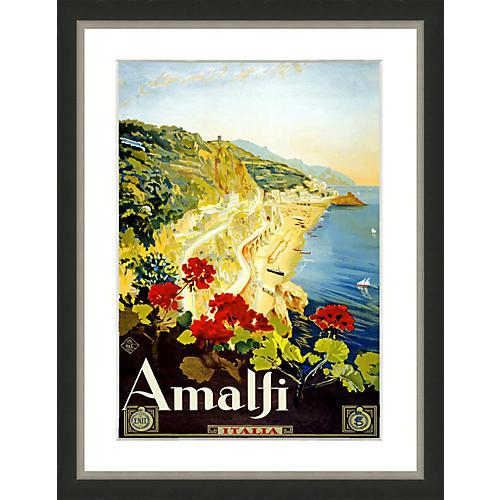 Travel Poster, Amalfi Italy
