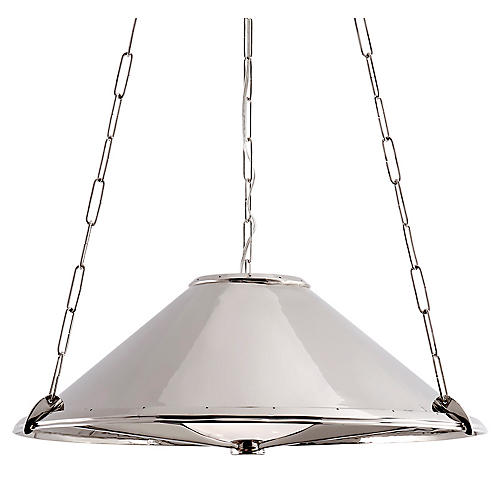 Baxter Medium Hanging Shade, Polished Nickel