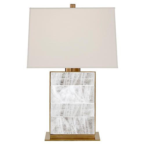 Ellis Table Lamp, Natural Brass/Quartz