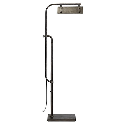 Flint Pharmacy Floor Lamp, Aged Iron