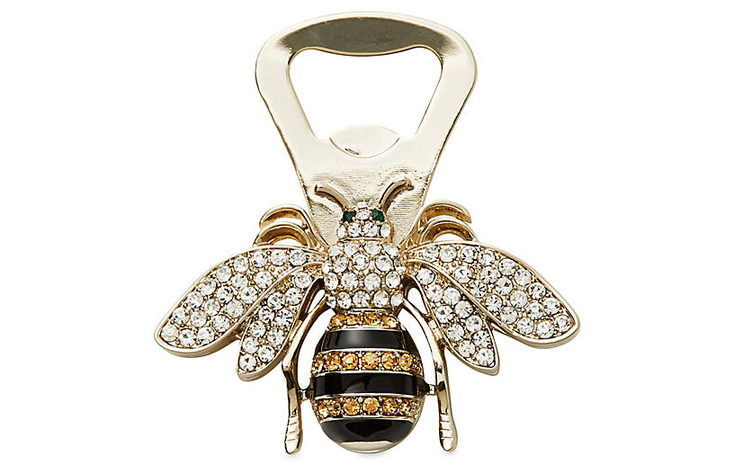Bee Bottle Opener, Pale Gold/Black