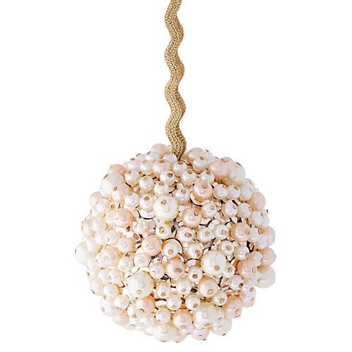 Multi Pearl Ball Ornament, Cream
