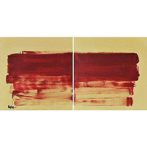 Red on Yellow Diptych, Robbie Kemper