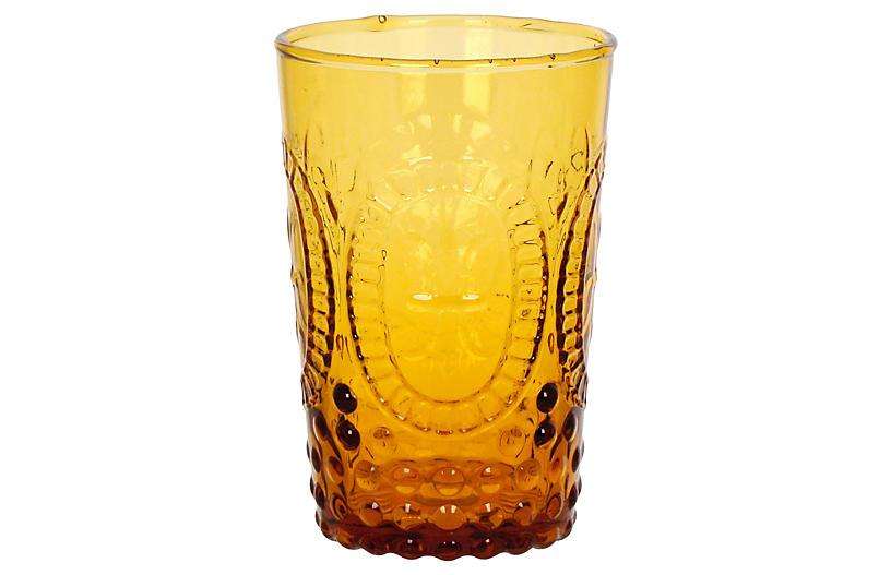 S/4 Renaissance Juice Glasses, Amber