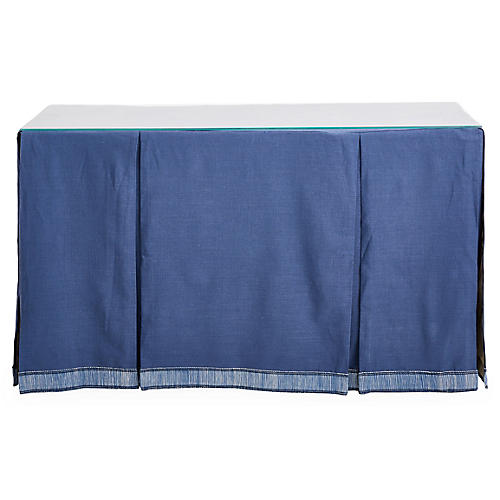 Eden Skirted Console, Indigo