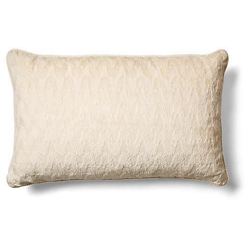 Dora 12x20 Lumbar Pillow, Ivory Chenille