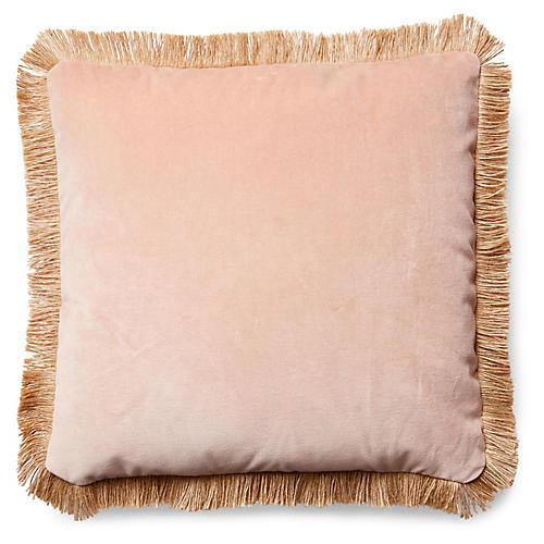 Celeste Pillow, Blush Velvet