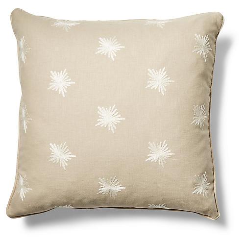 Maisie 19x19 Pillow, Khaki/Ivory