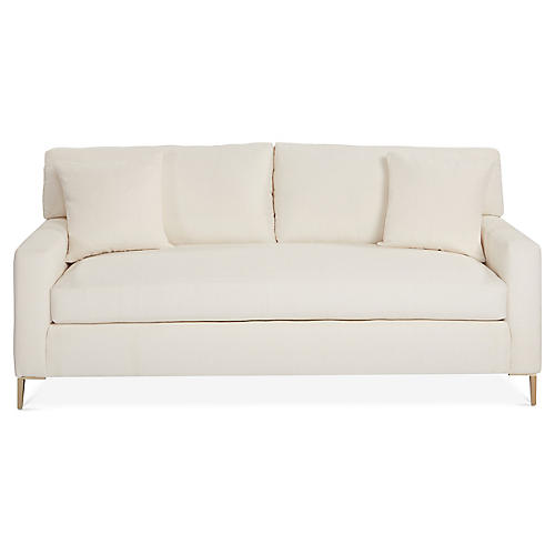 Hinton Sofa, Ivory Crypton