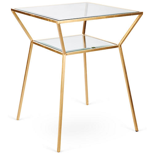 Wilford Side Table, Gold