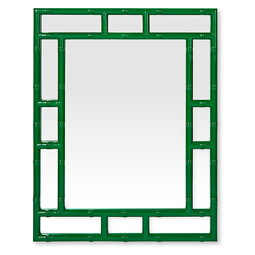 Bamboo Mirror, Hunter Green
