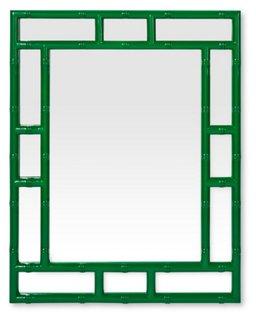bamboo mirror hunter green wall mirrors mirrors art u0026 mirrors one kings lane
