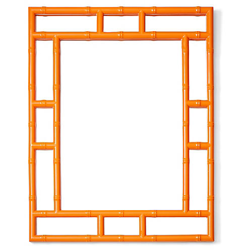 Bamboo Wall Mirror, Orange