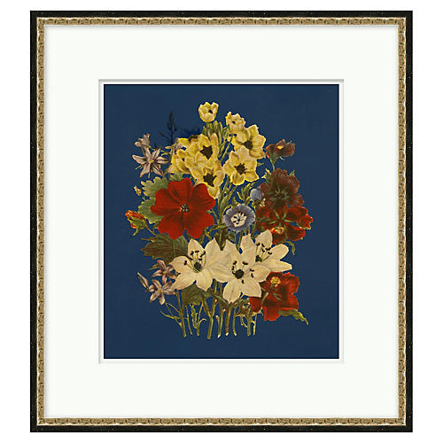 London Florals, Antiqued Gold