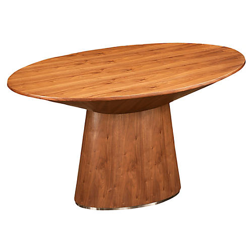 Orla Dining Table, Walnut