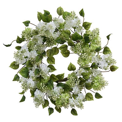 "20"" Lilac Wreath, Faux"