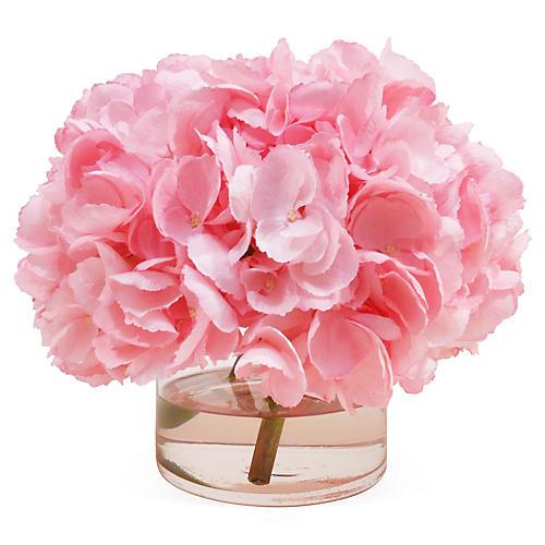 """11"""" Hydrangea in Vase, Faux"""