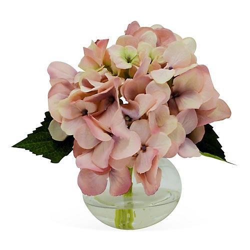 """7"""" Hydrangea in Vase, Faux"""