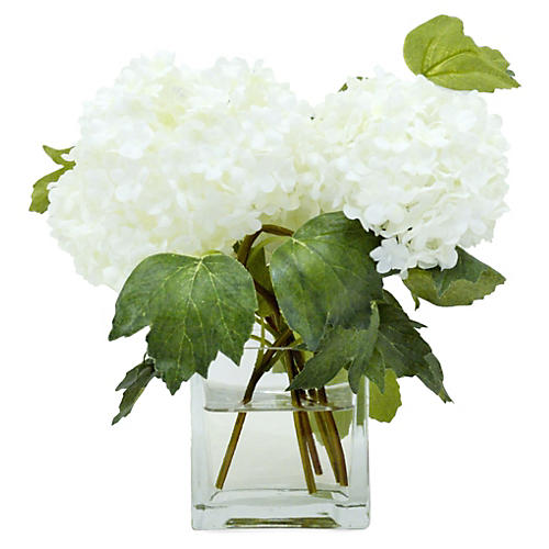 "9"" Snowball in Vase, Faux"