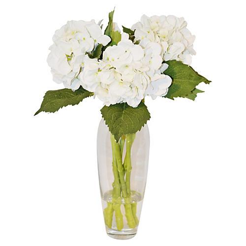 """19"""" Hydrangea in Vase, Faux"""