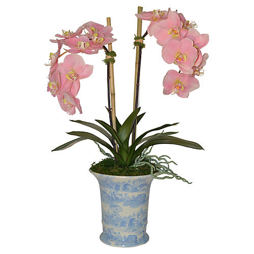 "26"" Phalaenopsis in Pot, Faux"