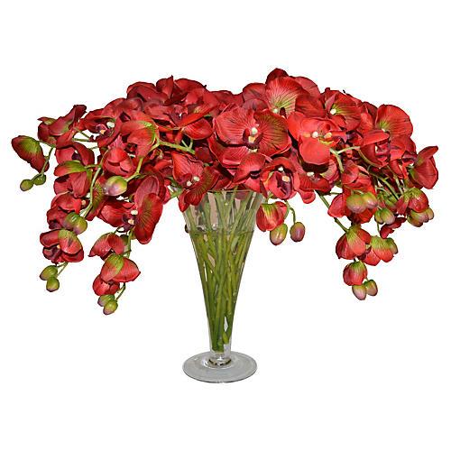 """20"""" Orchid Arrangement, Faux"""